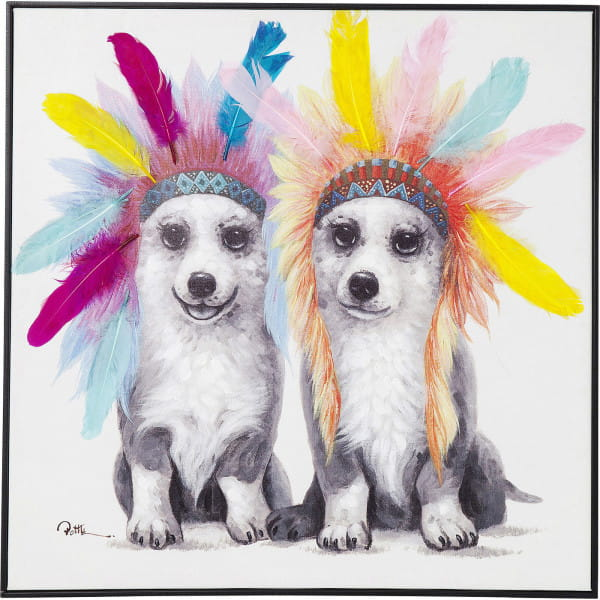 Bild Touched Chief Dogs 70x70cm