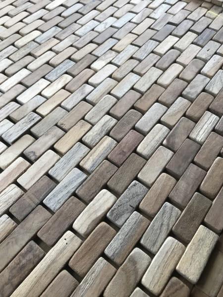 Fussmatte Wood Rechteck 50x80