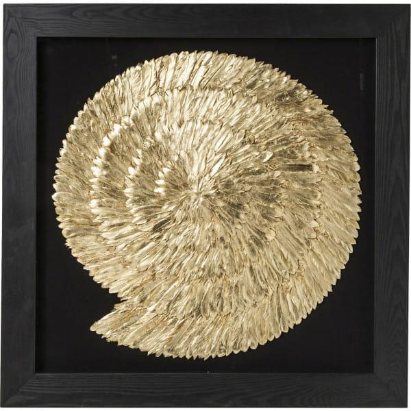 Dekorahmen Golden Snail 120x120cm