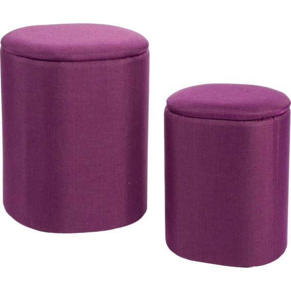 Wäschekorb Katya (2er-Set) oval violett