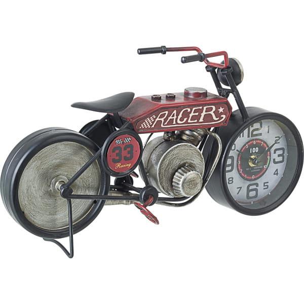 Tischuhr Charles Motorrad rot