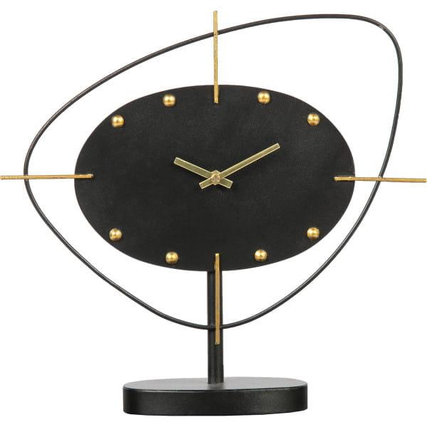 Tischuhr One O'clock Metall Schwarz