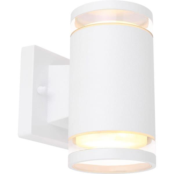 Aussenleuchte Alcala Aluminium weiss 2xGX53 LED