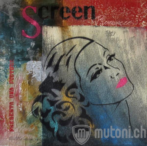 Leinwandbild Screen 100x100