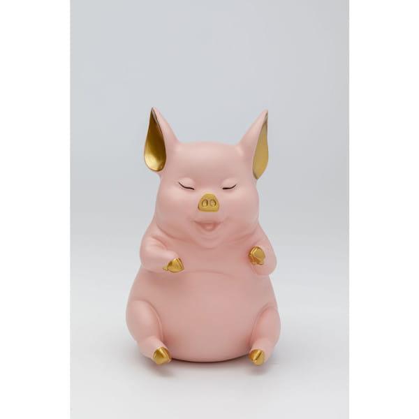 Spardose Happy Pig Sitting Rosa