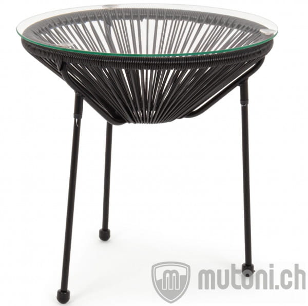 Garten Beistelltisch Parker Spaghetti schwarz