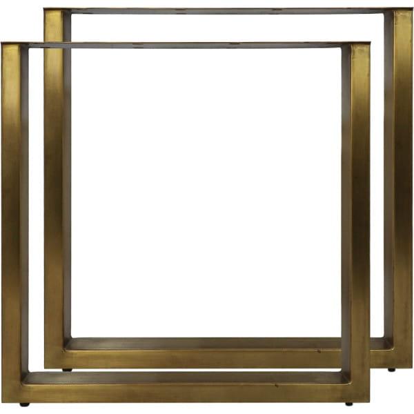 Tischgestell U-Modell Eisen antikgold (2er Set)