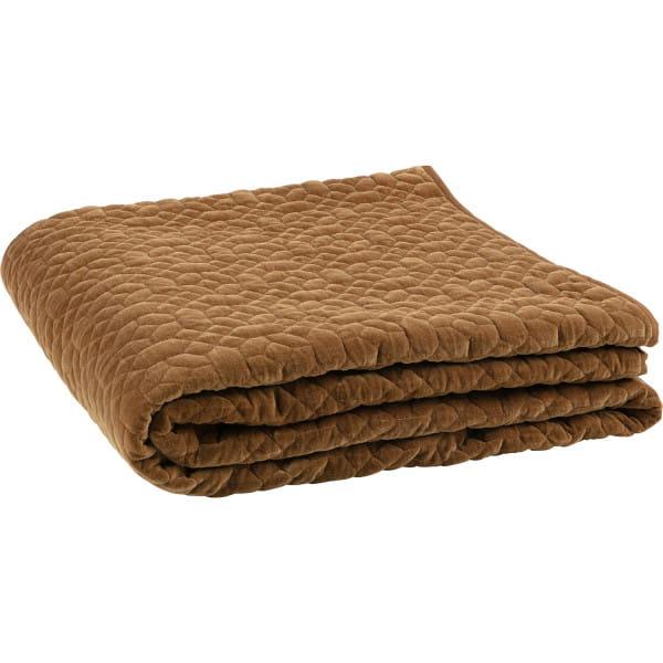 Tagesdecke Geometric Plaid Washed Velvet Honig Gelb 220x220