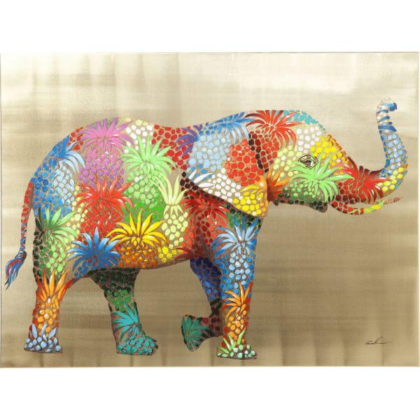 Bild Touched Flower Elefant 90x120cm