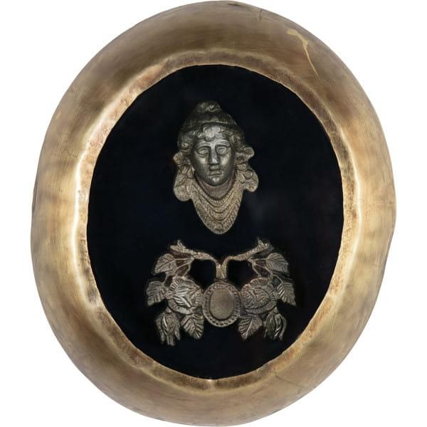 Wanddekoration Art Deco Metall Antique Brass