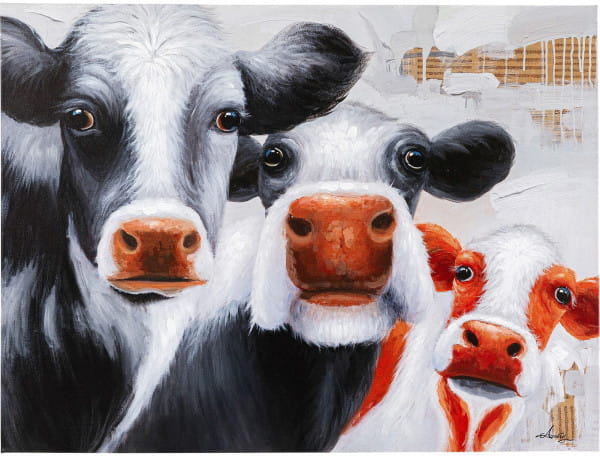 Bild Touched Snoopy Cows 120x90cm