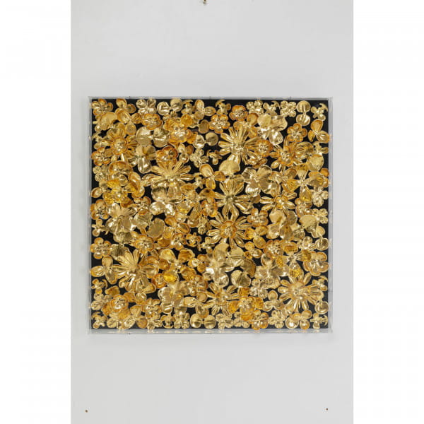 Deko Rahmen Gold Flower 60x60cm