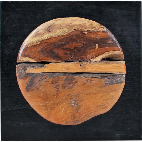 Wand-Deko Romanteaka natur schwarz 35x6x35