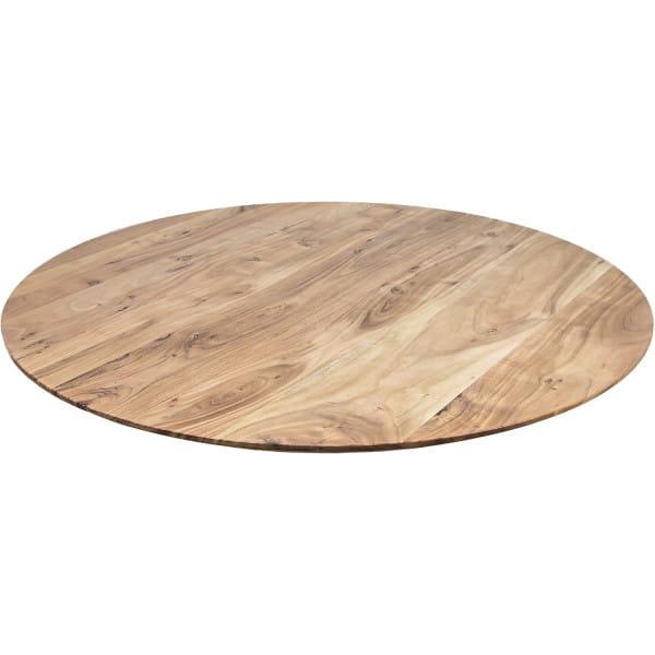 Tischplatte Zurich Akazie swiss edge rund 125