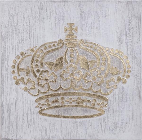 Wandbild Krone gold handgefertigt 60x60