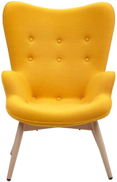 Sessel gelb Webstoff