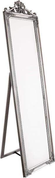 Standspiegel Miro mit Rahmen silber 45x180