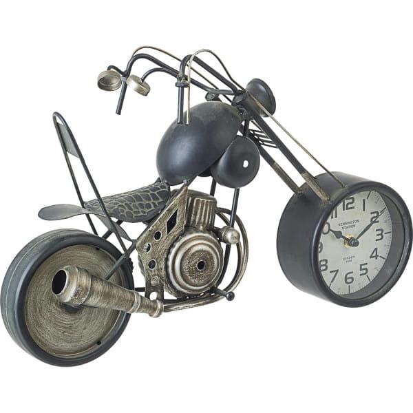 Tischuhr Charles Motorrad gold
