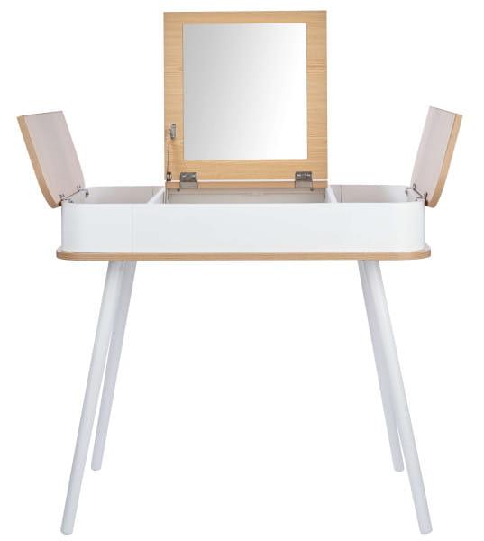 Schminktisch mit Spiegel weiß 80x50x73