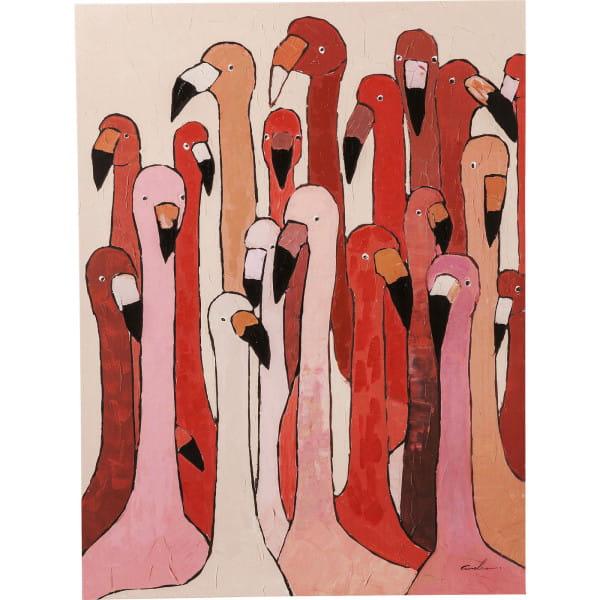 Bild Touched Flamingo Meeting 120x90cm
