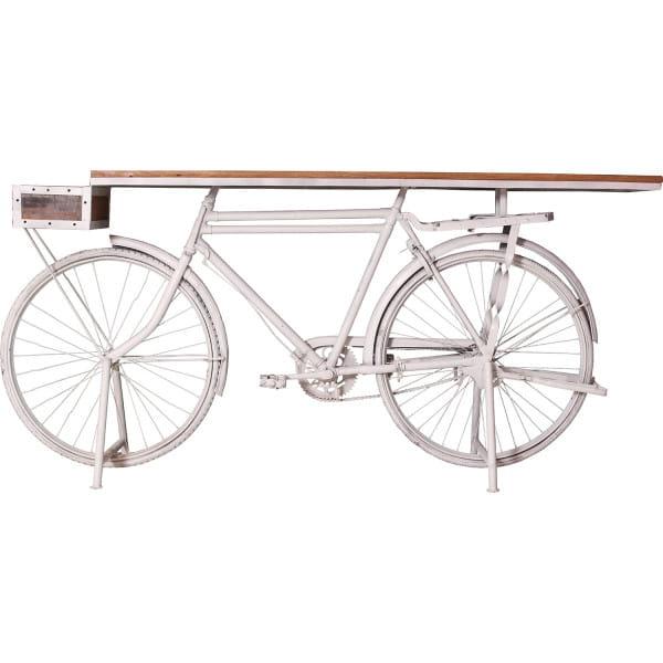 Deko-Tisch Bicycle weiss 190x41x95