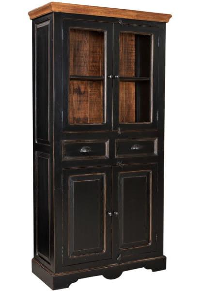 Vitrine Taverna schwarz honigfarbig 40x90